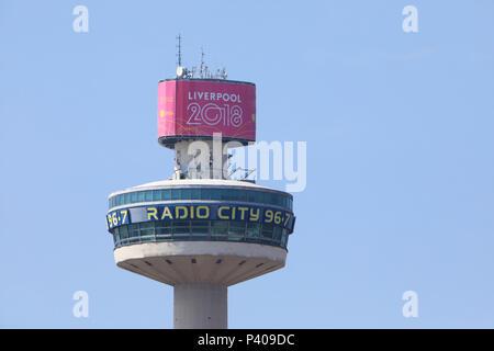 Radio City Tower, or St John's Beacon, in Liverpool, on Merseyside, NW England, UK - Stock Photo
