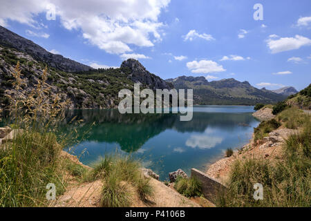Gorg Blau, artifical lake, water reserve supply Majorca Spain - Stock Photo