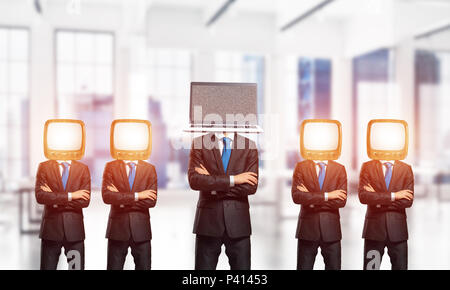 Modern technologies against old one. - Stock Photo