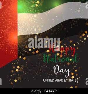 Decorative background for United Arab Emirates National Day celebration - Stock Photo
