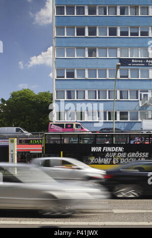 Berlin, Germany, office building in the main street corner Dominicusstrasse in Berlin-Schoeneberg - Stock Photo