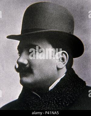 Portrait of Enrico Caruso (1873-1921), Italian opera singer. - Stock Photo