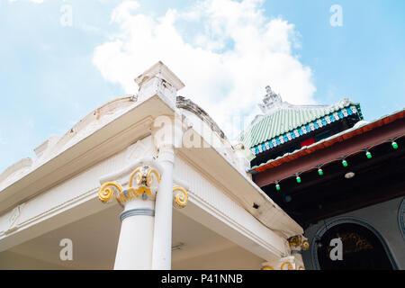 Masjid Kampung Kling, Religious building in Malacca, Malaysia - Stock Photo