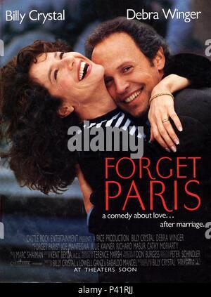 Original Film Title: FORGET PARIS.  English Title: FORGET PARIS.  Film Director: BILLY CRYSTAL.  Year: 1995. Credit: CASTLE ROCK ENTERTAINMENT / Album - Stock Photo