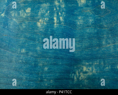 Blue Color Painted Texture, Hand Paint Acrylic Color on Wooden Background - Stock Photo