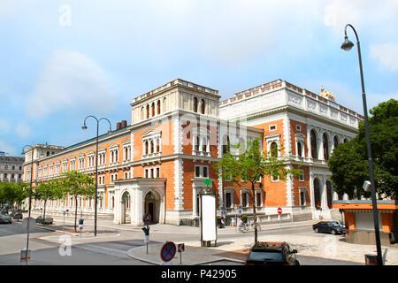The austrian stock exchange in Vienna, Austria - Stock Photo