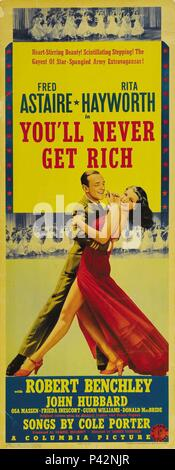 Original Film Title: YOU'LL NEVER GET RICH.  English Title: YOU'LL NEVER GET RICH.  Film Director: SIDNEY LANFIELD.  Year: 1941. Credit: COLUMBIA PICTURES / Album - Stock Photo
