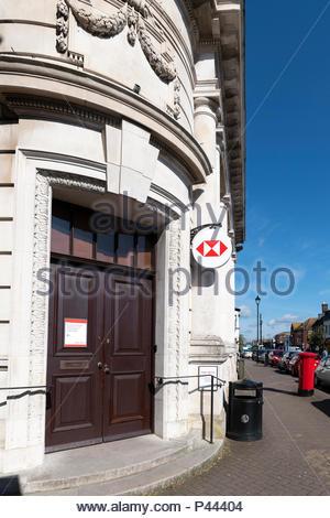 HSBC branch, High Street, Christchurch, Dorset, England, UK - Stock Photo