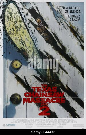 Original Film Title: THE TEXAS CHAINSAW MASSACRE 2.  English Title: THE TEXAS CHAINSAW MASSACRE 2.  Film Director: TOBE HOOPER.  Year: 1986. Credit: CANNON FILMS / Album - Stock Photo