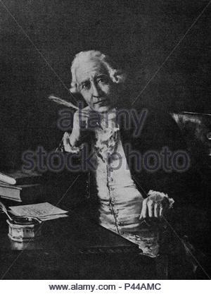 FRANCISCO SALVA (1751-1828) - MEDICO FISICO E INGENIERO ESPAÑOL. Author: MARQUES JOSE M. Location: REAL ACADEMIA DE MEDICINA DE CATALUÑA, BARCELONA, SPAIN. - Stock Photo