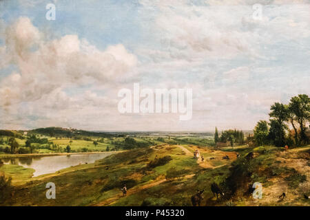 Painting of The Vale of Health at Hampstead Heath by John Constable dated 1827 - Stock Photo