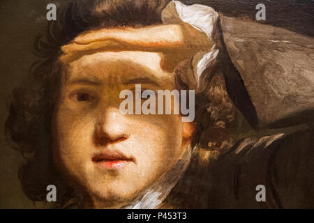Self Portrait of Sir Joshua Reynolds dated 1747 - Stock Photo