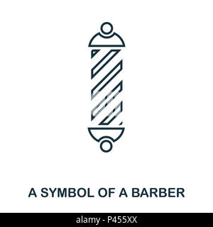 A Symbol Of A Barber icon. Flat style icon design. UI. Illustration of a symbol of a barber icon. Pictogram isolated on white. Ready to use in web design, apps, software, print. - Stock Photo