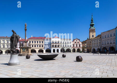06 May 2018 Novy Jicin Czech Republic Old Turret And Church Of