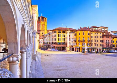 Piazza della Liberta square in Udine landmarks view, Friuli-Venezia Giulia region of Italy - Stock Photo