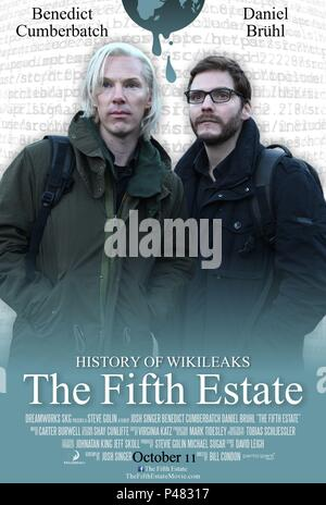Original Film Title: THE FIFTH ESTATE.  English Title: THE FIFTH ESTATE.  Film Director: BILL CONDON.  Year: 2013. Credit: DREAMWORKS SKG / Album - Stock Photo