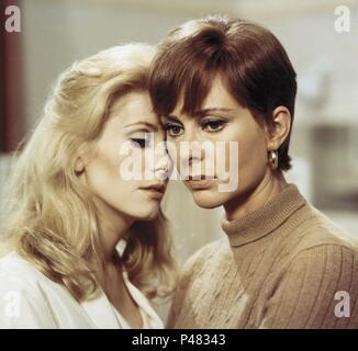 Original Film Title: BELLE DE JOUR.  English Title: BELLE DE JOUR.  Film Director: LUIS BUNUEL.  Year: 1967.  Stars: CATHERINE DENEUVE; GENEVIEVE PAGE. Credit: PARIS FILM/FIVE FILM / Album - Stock Photo