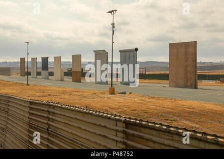 Prototypes Of The Proposed New Trump Wall Erected Near The