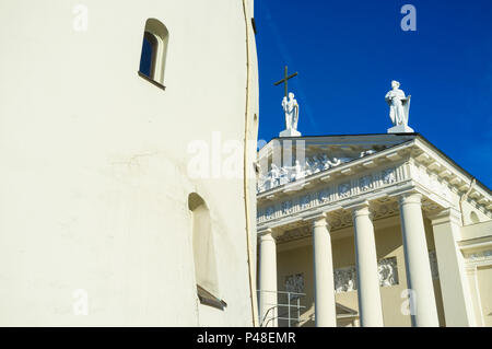 Vilnius Cathedral and belfry. Vilnius, Lithuania, Europe - Stock Photo