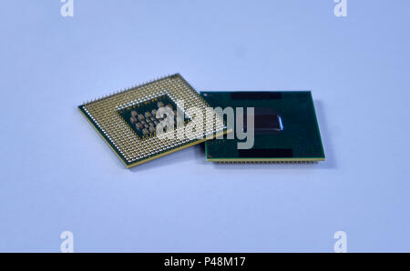Central processing unit CPU processors microchip - Stock Photo
