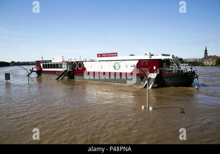 Flooding in Dresden, Germany, June 2013 - Stock Photo