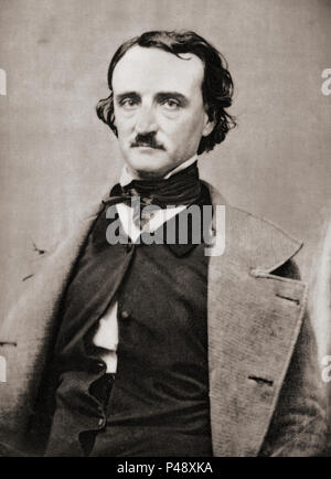 Edgar Allan Poe, 1809 – 1849.  American writer, editor, and literary critic.  After a contemporary print. - Stock Photo