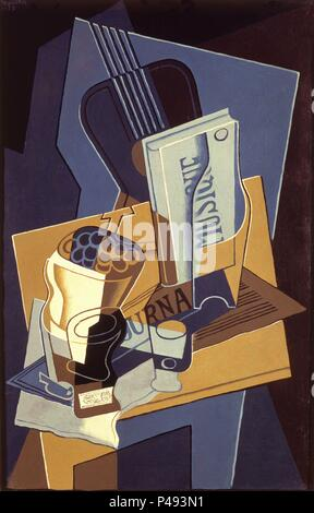 'Book of Music', 1922, Oil on canvas, 96 x 61,5 cm, AS10663. Author: Juan Gris (1887-1927). Location: MUSEO REINA SOFIA-PINTURA, MADRID, SPAIN. - Stock Photo