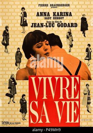 Original Film Title: VIVRE SA VIE: FILM EN DOUZE TABLEAUX.  English Title: MY LIFE TO LIVE.  Film Director: JEAN-LUC GODARD.  Year: 1962. Credit: PATHE CINEMA / Album - Stock Photo