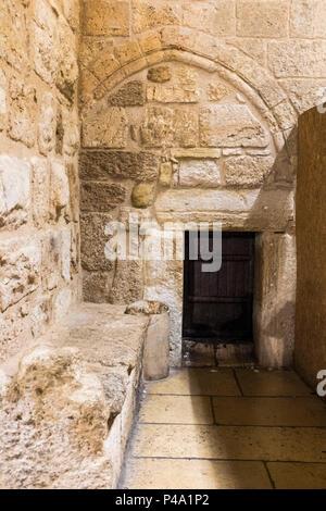 Entrance of Church of the Nativity, Bethlehem, West Bank, Palestine - Stock Photo
