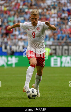 Samara Arena, Samara, Russia. 21st June, 2018. FIFA World Cup Football, Group C Denmark versus Australia; Nicolai Jorgensen of Denmark Credit: Action Plus Sports/Alamy Live News - Stock Photo
