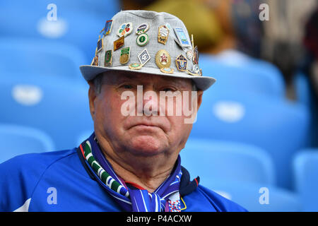 Samara, Russland. 21st June, 2018. German fans, football fans. Senior Miner Denmark (DEN) - Australia (AUS) 1-1, Preliminary Group C, Game 22, on 21.06.2018 in Samara, Samara Arena. Football World Cup 2018 in Russia from 14.06. - 15.07.2018. | usage worldwide Credit: dpa/Alamy Live News - Stock Photo