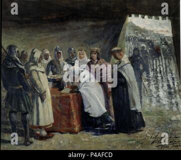 LA CONQUISTA DE JAEN - SIGLO XIX. Author: Manuel Fernández Carpio (1853-1929). Location: DIPUTACION, SPAIN. - Stock Photo