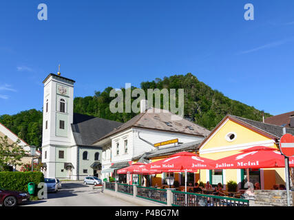 Gaming, church, Mostviertel region, Lower Austria, Austria - Stock Photo