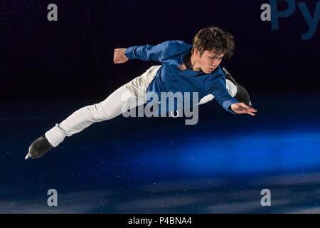 Shoma Uno (JPN) performing at the Figure Skating Gala Exhibition at the Olympic Winter Games PyeongChang 2018 - Stock Photo