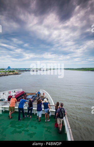 USA, New Jersey, Cape May, aboard the Cape May, NJ-Lewes, Delaware ferry - Stock Photo