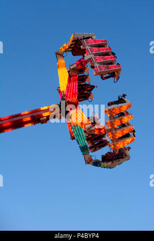Klosterneuburg, funfair ride Afterburner 24 'Chaos', Wienerwald (Vienna Woods), Lower Austria, Austria - Stock Photo