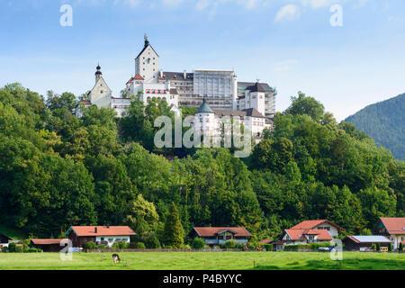 Aschau im Chiemgau, Hohenaschau Castle, Chiemgau, Upper Bavaria, Bavaria, Germany - Stock Photo