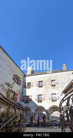 Texingtal, Plankenstein Castle courtyard, Mostviertel region, Lower Austria, Austria - Stock Photo