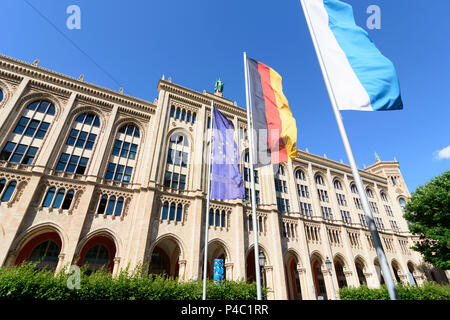 Munich, Regierung von Oberbayern (Government of Upper Bavaria), Upper Bavaria, Bavaria, Germany - Stock Photo