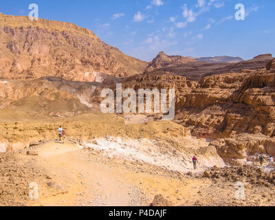 Aerial view of spectacular gorge of Colored Canyon, near Mount Sinai and Nuweiba, Sinai Peninsula in Egypt. - Stock Photo