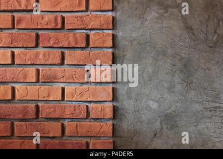 Old brick wall textured, brown brick patten background. - Stock Photo