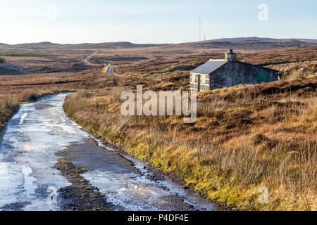 Old Sheiling on the Achmore Road, Isle of Lewis, Western Isles, Outer Hebrides, Scotland, United Kingdom - Stock Photo