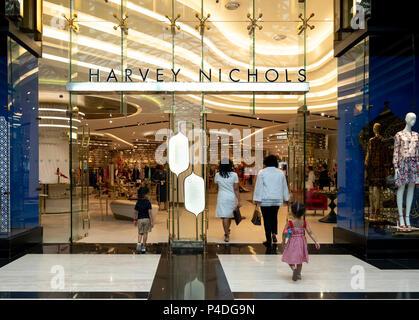 Harvey Nichols store in the Prestige mall inside The Avenues shopping mall in Kuwait City, Kuwait. - Stock Photo