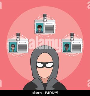 Hacker and cyber security - Stock Photo