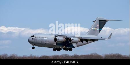 USAF Unites States Air Force C-17 Globemaster III - Stock Photo