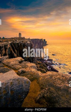 Europa, Portugal, Peniche, Klippen, Cabo Carvoeiro - Stock Photo