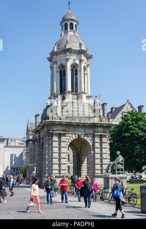 The Campanile, Parliament Square, Trinity College Dublin, College Green, Dublin, Leinster Province, Republic of Ireland - Stock Photo