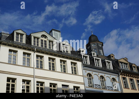 Facades, New Old Town, Dom-Roemer Project, Old Town, Historic Center, Frankfurt am Main, Hesse, Germany - Stock Photo