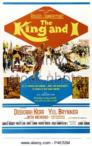 Original Film Title: THE KING AND I.  English Title: THE KING AND I.  Film Director: WALTER LANG.  Year: 1956. Credit: 20TH CENTURY FOX / Album - Stock Photo