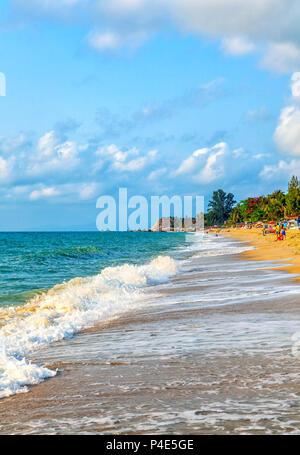 Lamai beach on Koh Samui in Thailand. - Stock Photo